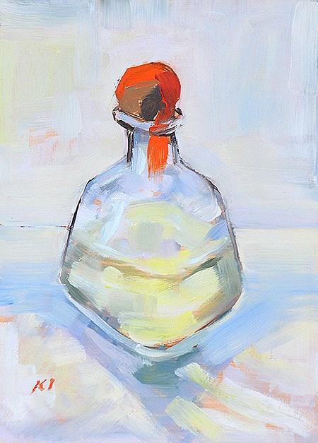 """Patrón Tequila Painting"" original fine art by Kevin Inman"