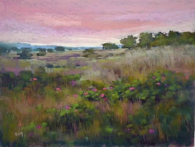 """Favorite Paintings of 2016: A Large Meadow"" original fine art by Karen Margulis"