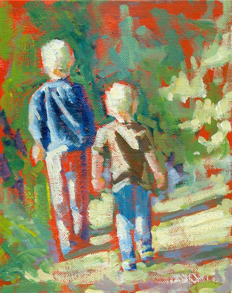 """brothers"" original fine art by Shelley Garries"