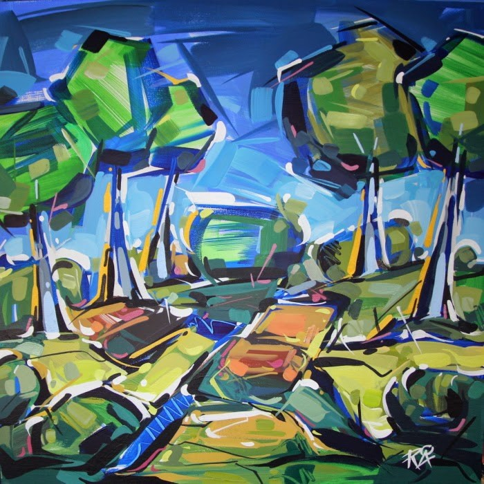 """Landscape Exploration 15"" original fine art by Roger Akesson"