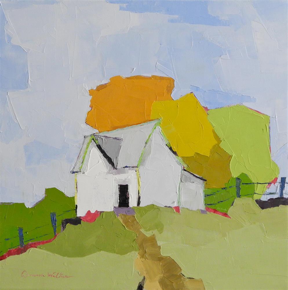 """""""Hilltop Homestead"""" original fine art by Donna Walker"""