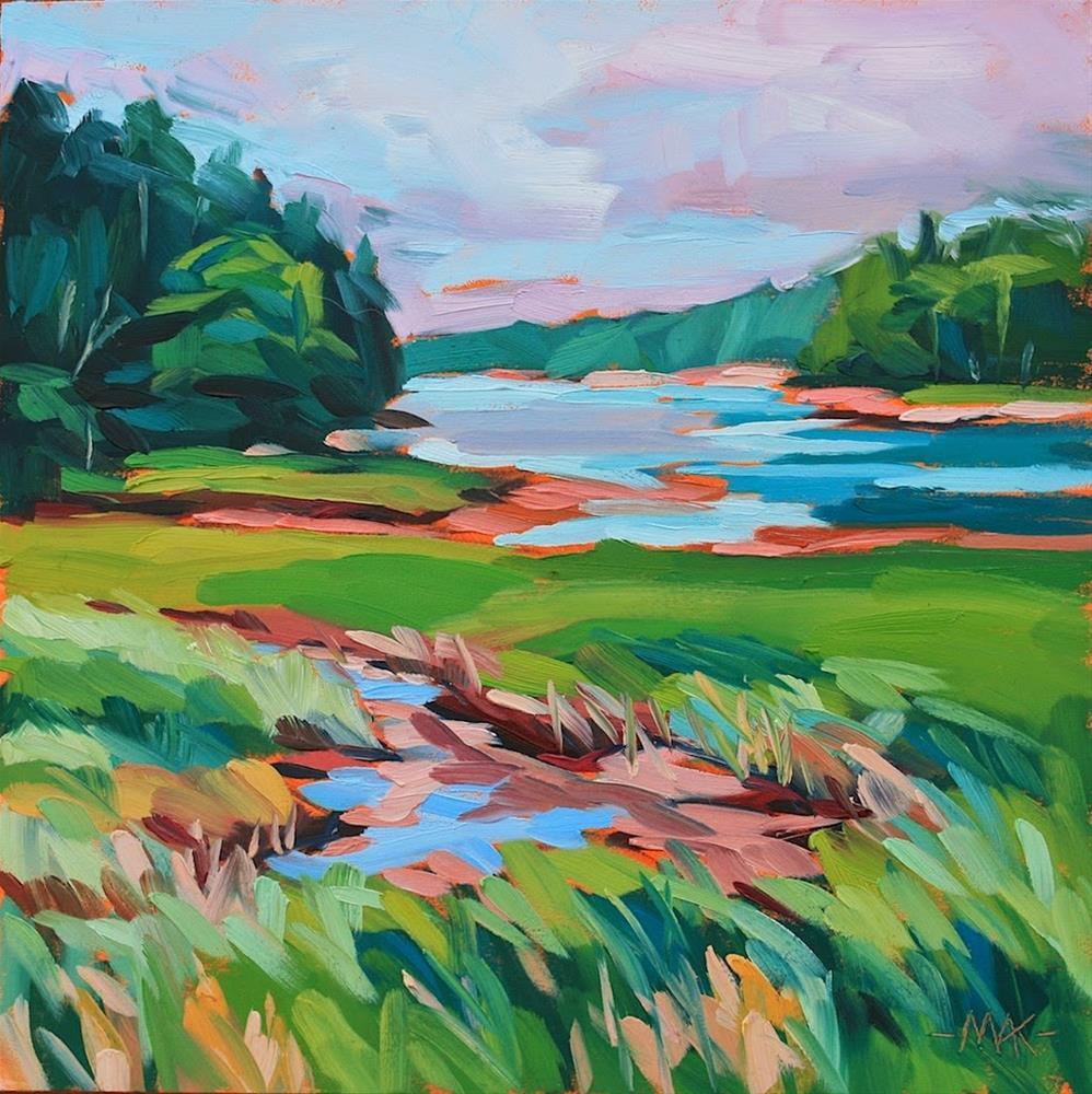 """Deer Isle Marsh"" original fine art by Mary Anne Cary"