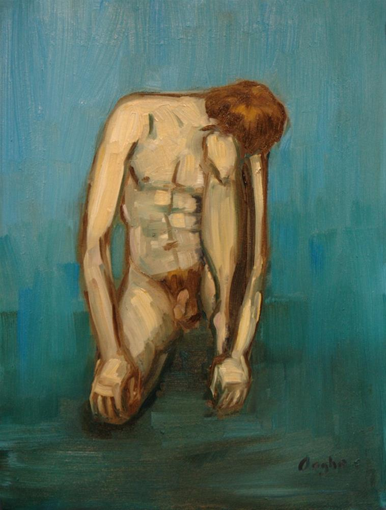 """Kneeling Nude"" original fine art by Angela Ooghe"