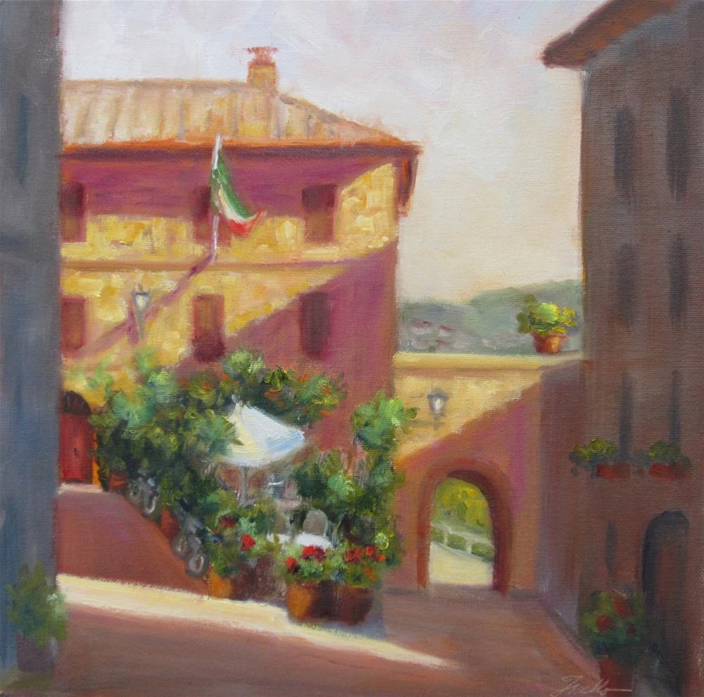 """""""Tuscan Corner"""" original fine art by Pat Fiorello"""