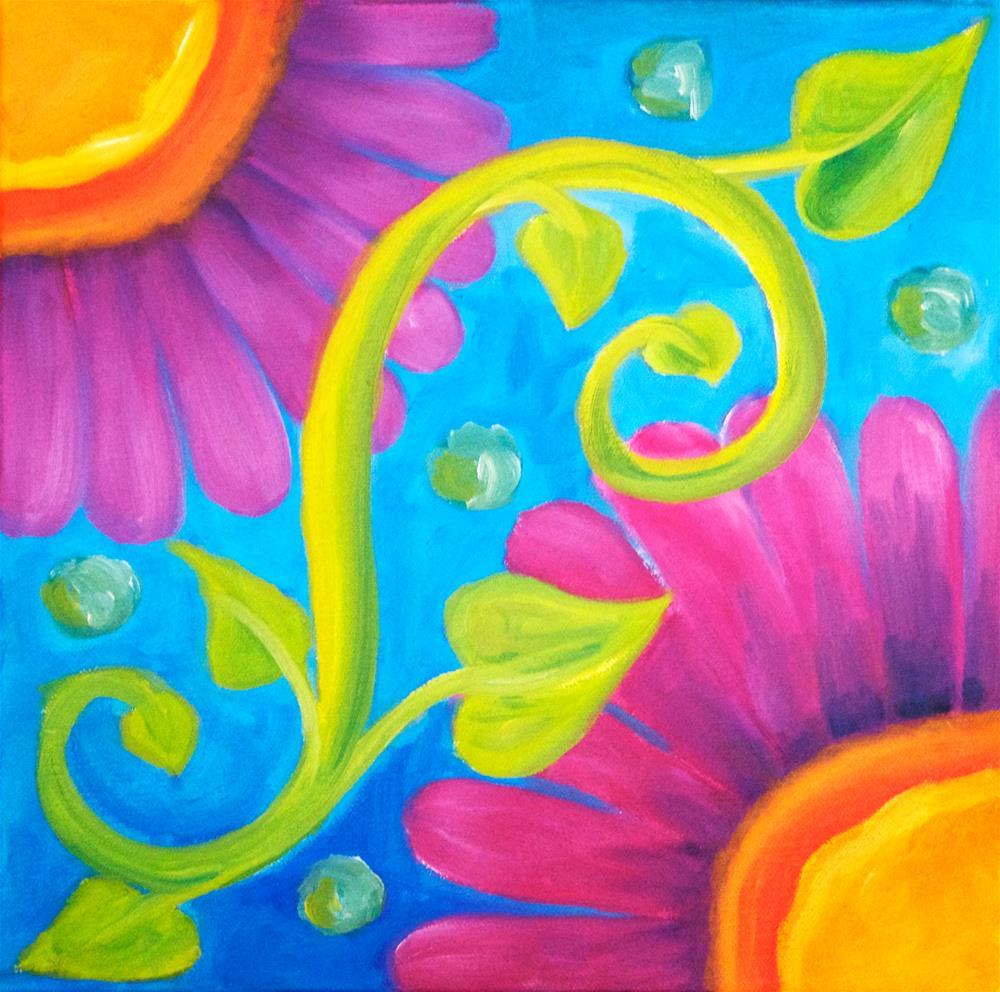 """Flower Swirl"" original fine art by Susan Bertocci"