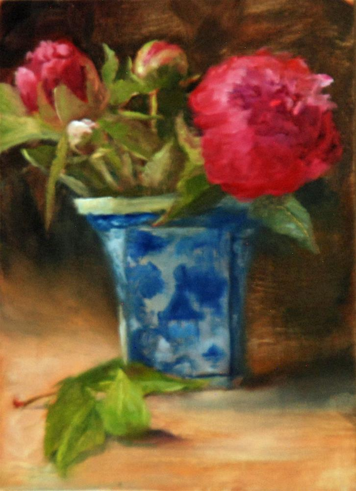 """""""Peony for your Thoughts"""" original fine art by Dorothy McLennan"""