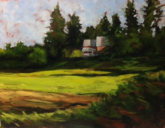 """Farm House off Hwy 29 / 14x18"" original fine art by Eileen Hennemann"