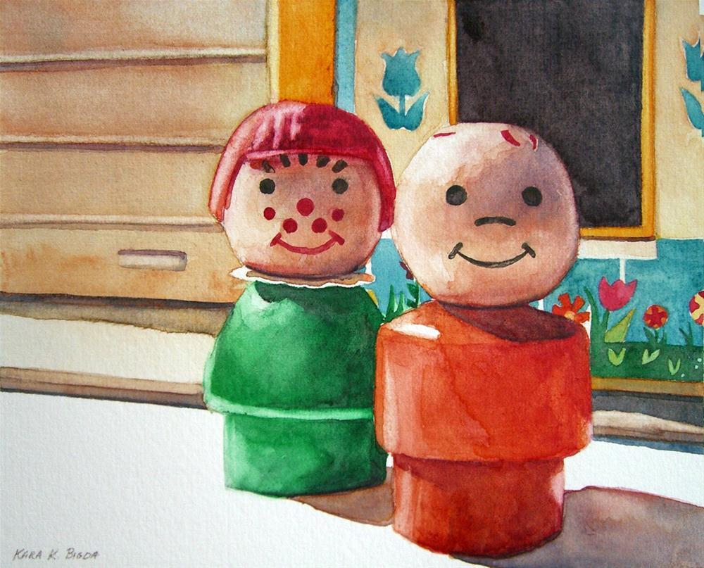 """First Day of School (Nostalgia I)"" original fine art by Kara K. Bigda"
