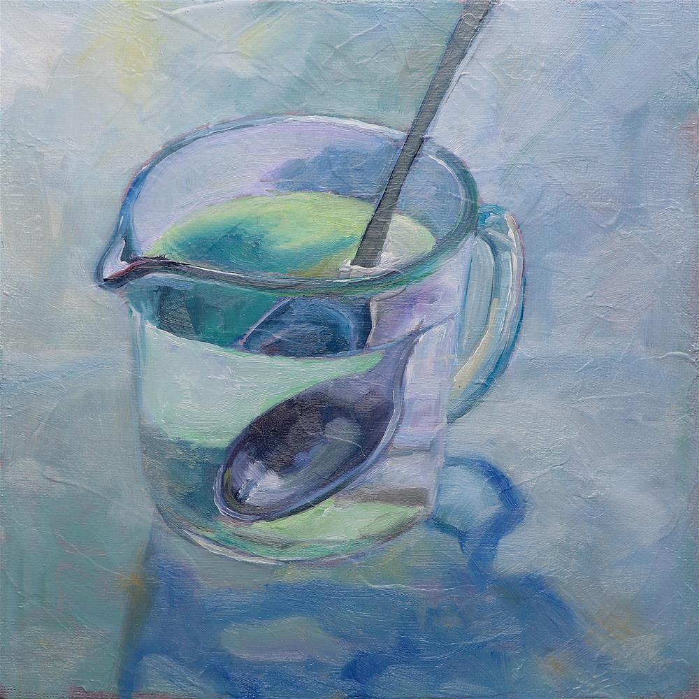 """Spoon-Bender"" original fine art by Christine Derrick"