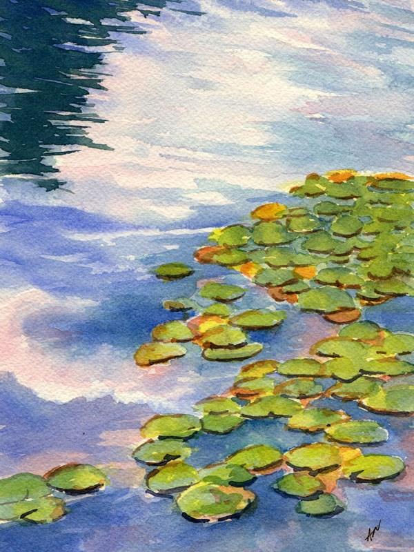 """""""A Little Monet-ish"""" original fine art by Ann Nemcosky"""