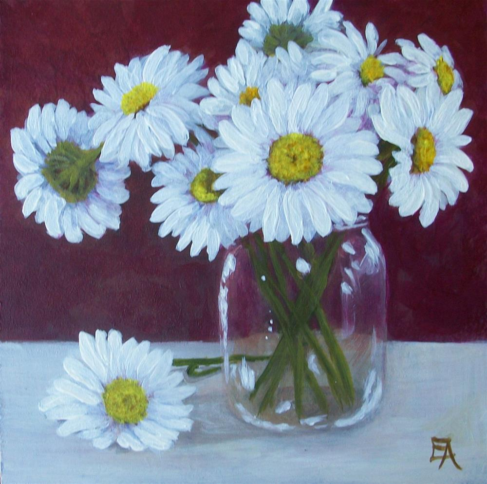 """Daisies Direct From the Garden"" original fine art by Elizabeth Elgin"