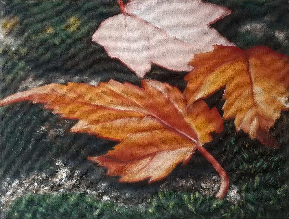 """Fallen Leaves"" original fine art by Sam Supkow"