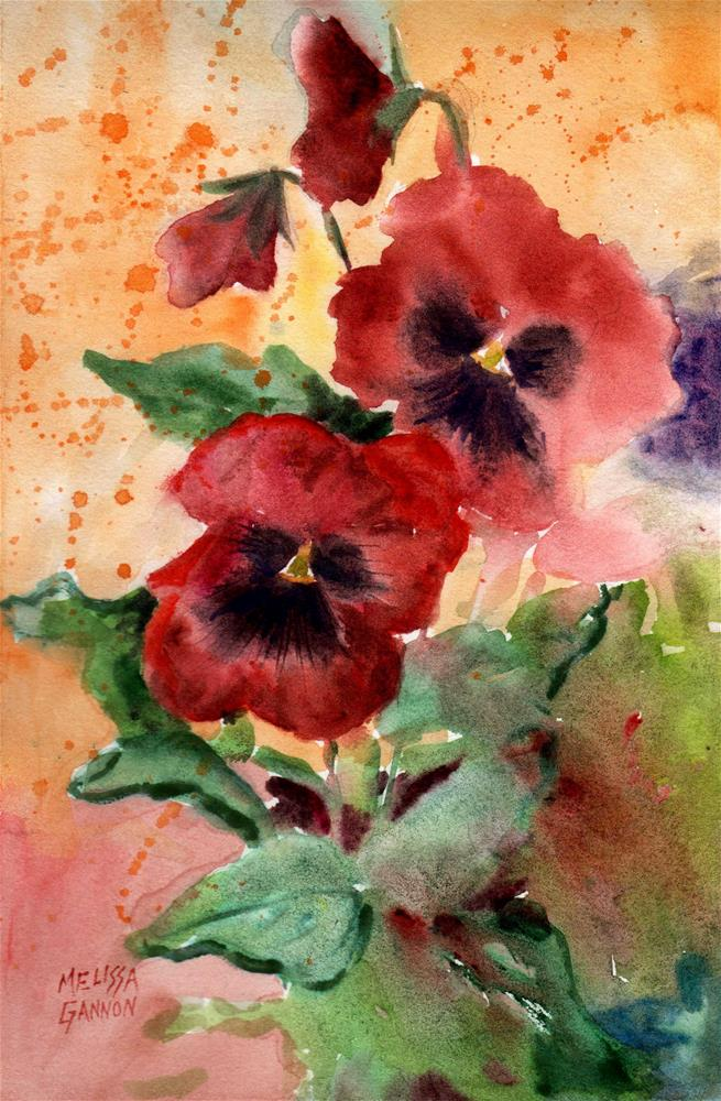 """Pansy Dance"" original fine art by Melissa Gannon"