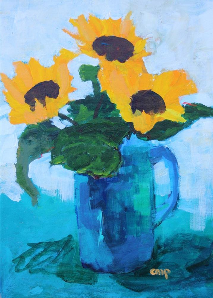 """Sunflowers"" original fine art by Christine Parker"