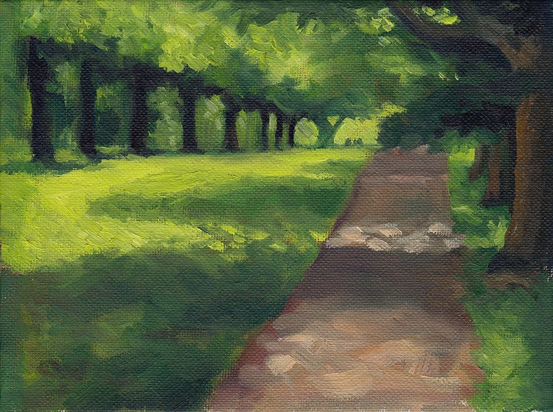"""A Row Of Shadows"" original fine art by J M Needham"