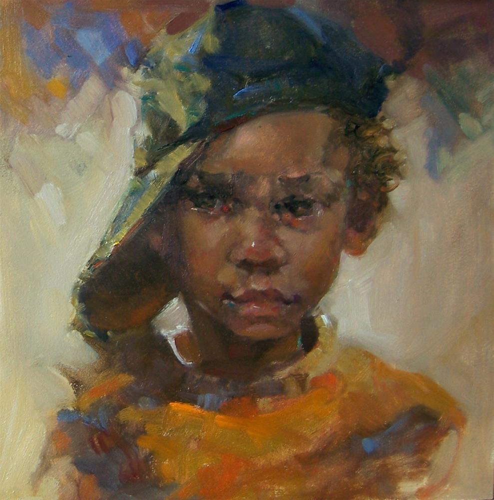 """Sweet Pea"" original fine art by Kim Roberti"
