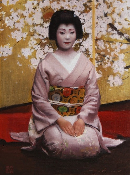 """An Evening in the Gion"" original fine art by Phil Couture"