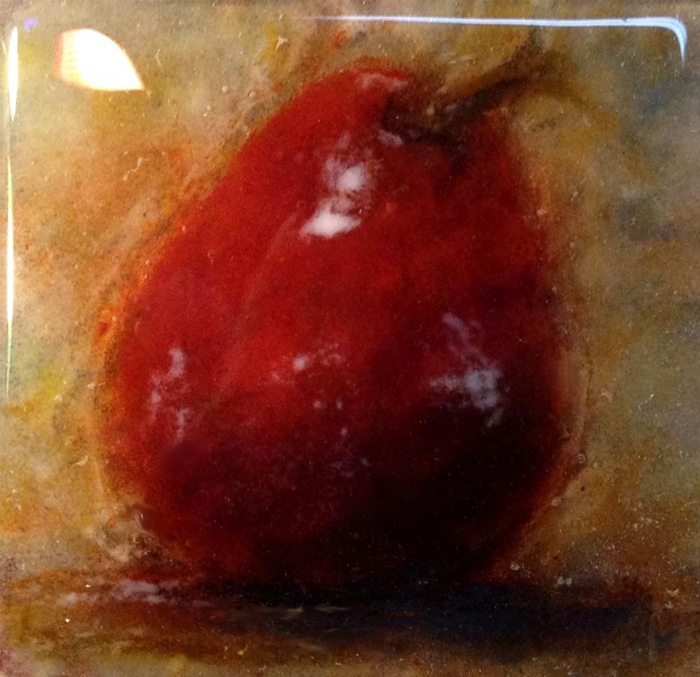 """""""Juicy Pear"""" original fine art by Kristen Dukat"""