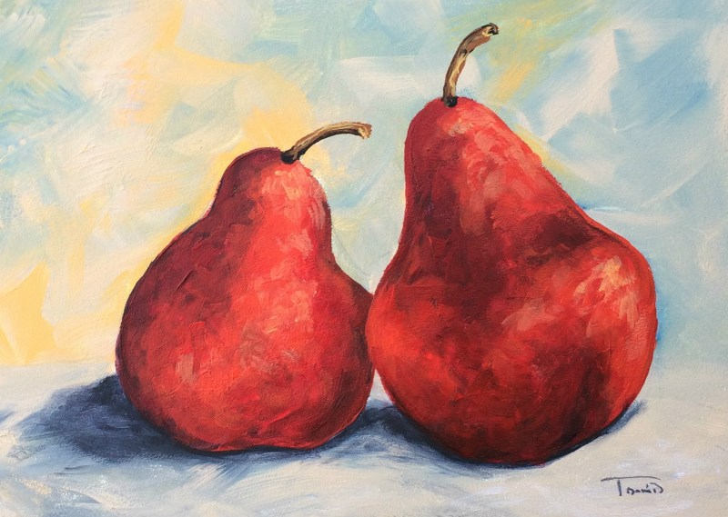 """""""Really Red Pears"""" original fine art by Torrie Smiley"""