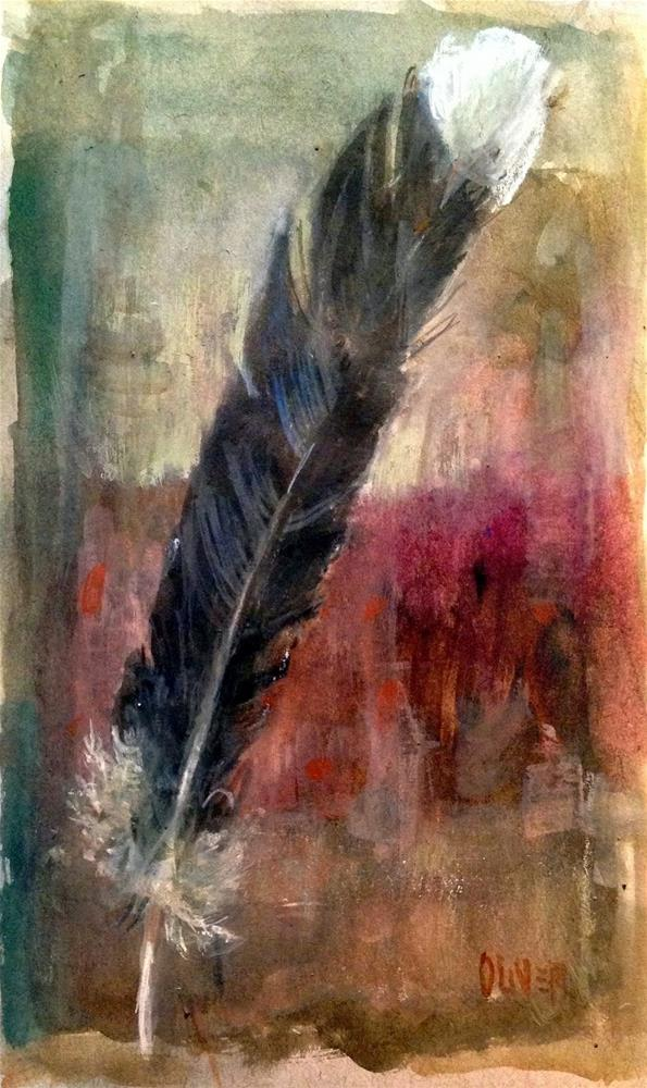 """""""Watercolor Weekend - Feather Study"""" original fine art by Julie Ford Oliver"""