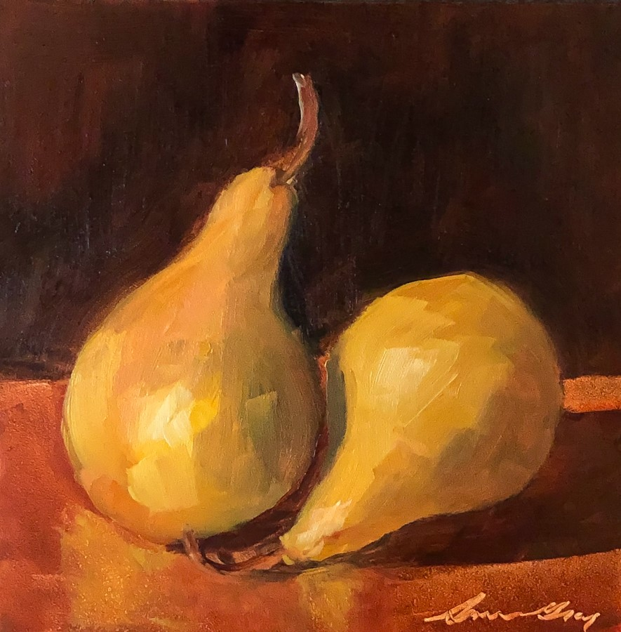 """#190 - Two Pears"" original fine art by Sara Gray"
