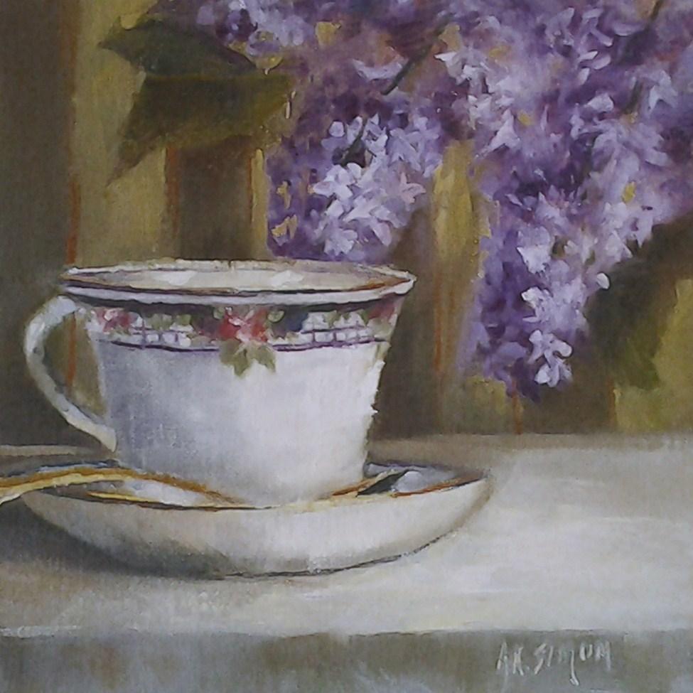 """The Golden Spoon"" original fine art by A.K. Simon"