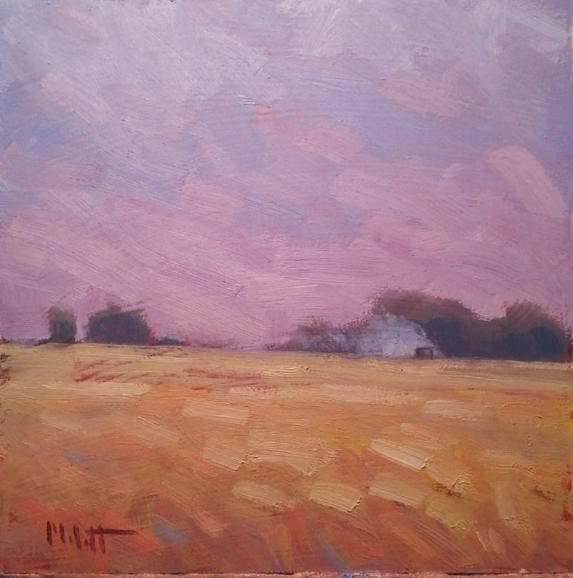 """Harvest Time Golden Fields Daily Painting"" original fine art by Heidi Malott"