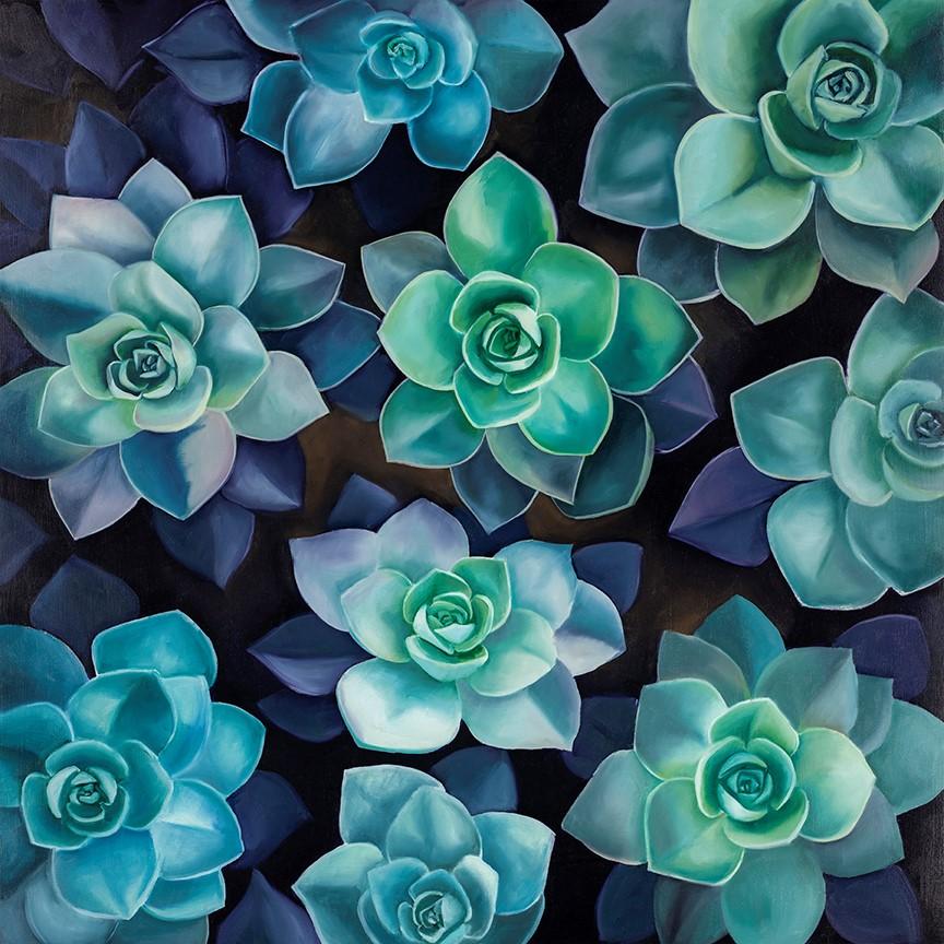 """Succulent Garden"" original fine art by Elaine Brady Smith"