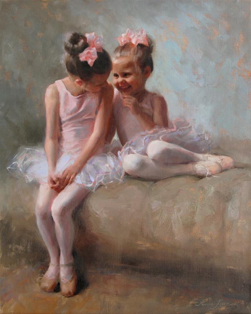 """Sharing Secrets"" original fine art by Anna Rose Bain"