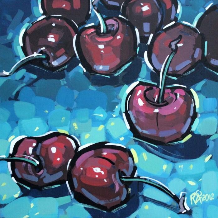 """""""Dark cherries"""" original fine art by Roger Akesson"""