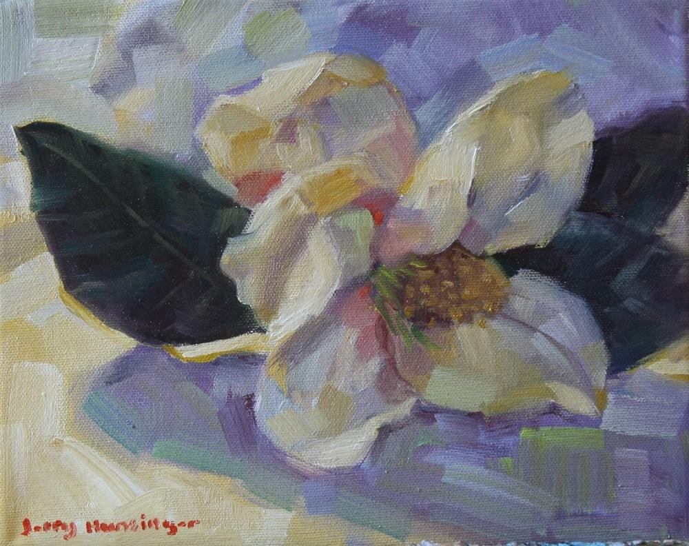 """Magnolia Flower"" original fine art by jerry hunsinger"