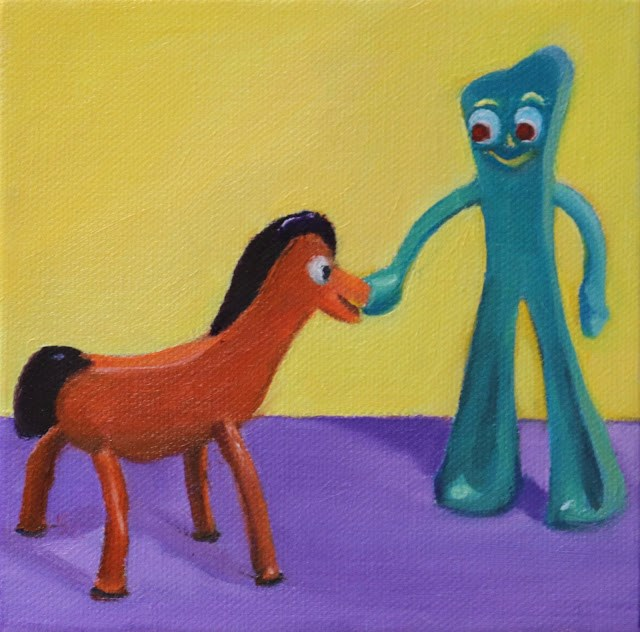 """A Bit of Fun"" original fine art by Sharon Lewis"