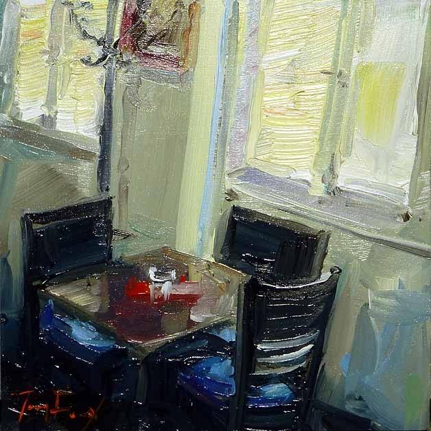 """""""Cafétisch"""" original fine art by Jurij Frey"""
