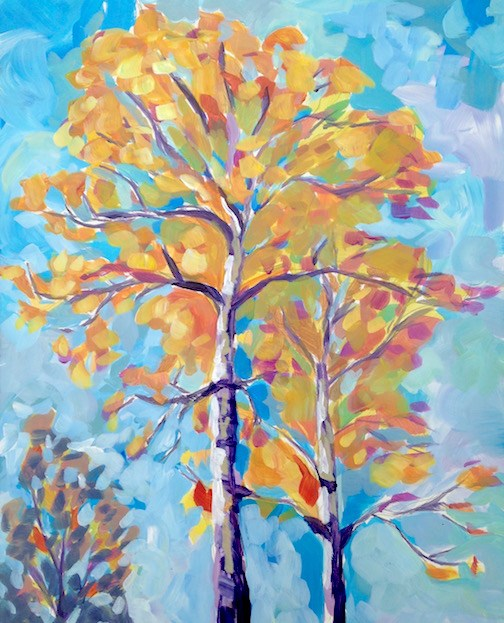 """Aspen Sky"" original fine art by Kat Corrigan"