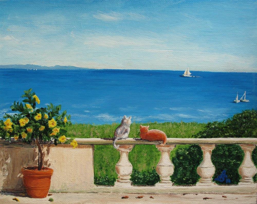 """Meditation for two"" original fine art by Anna Starkova"