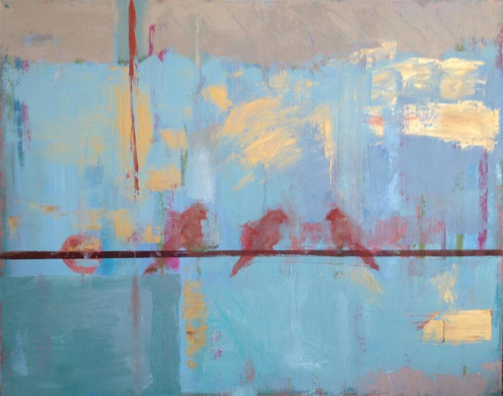 """Birds on a Wire"" original fine art by Carol Josefiak"