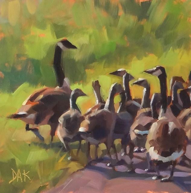 """Gaggle Of Geese"" original fine art by Deborah Ann Kirkeeide"