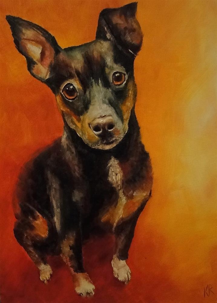 """Hot dog"" original fine art by Karen Robinson"