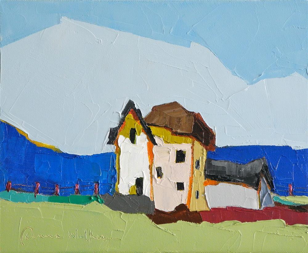 """Blue Band"" original fine art by Donna Walker"