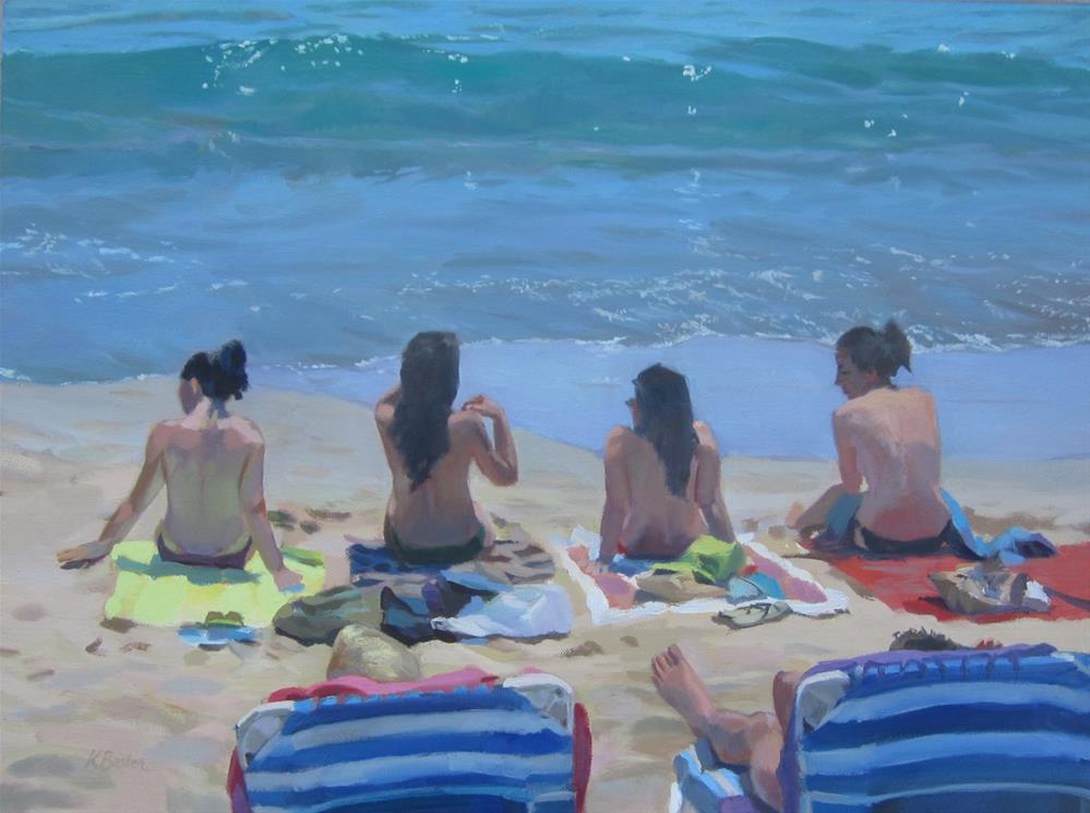 """Sunbathers"" original fine art by Kaethe Bealer"