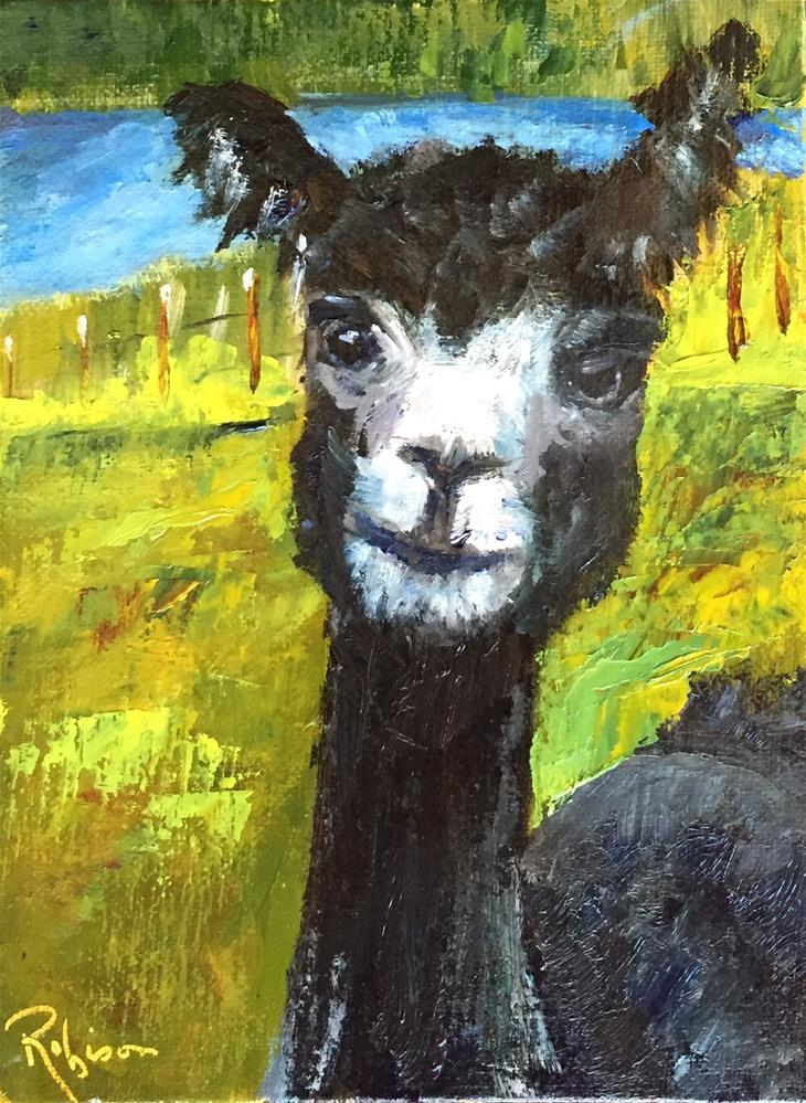 """""""Are You Talking to Me??"""" original fine art by Renee Robison"""