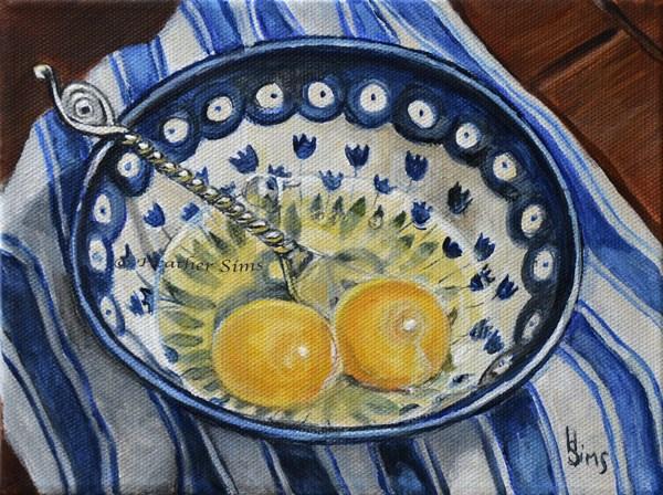 """Eggs: Polish Pottery LXXXI"" original fine art by Heather Sims"