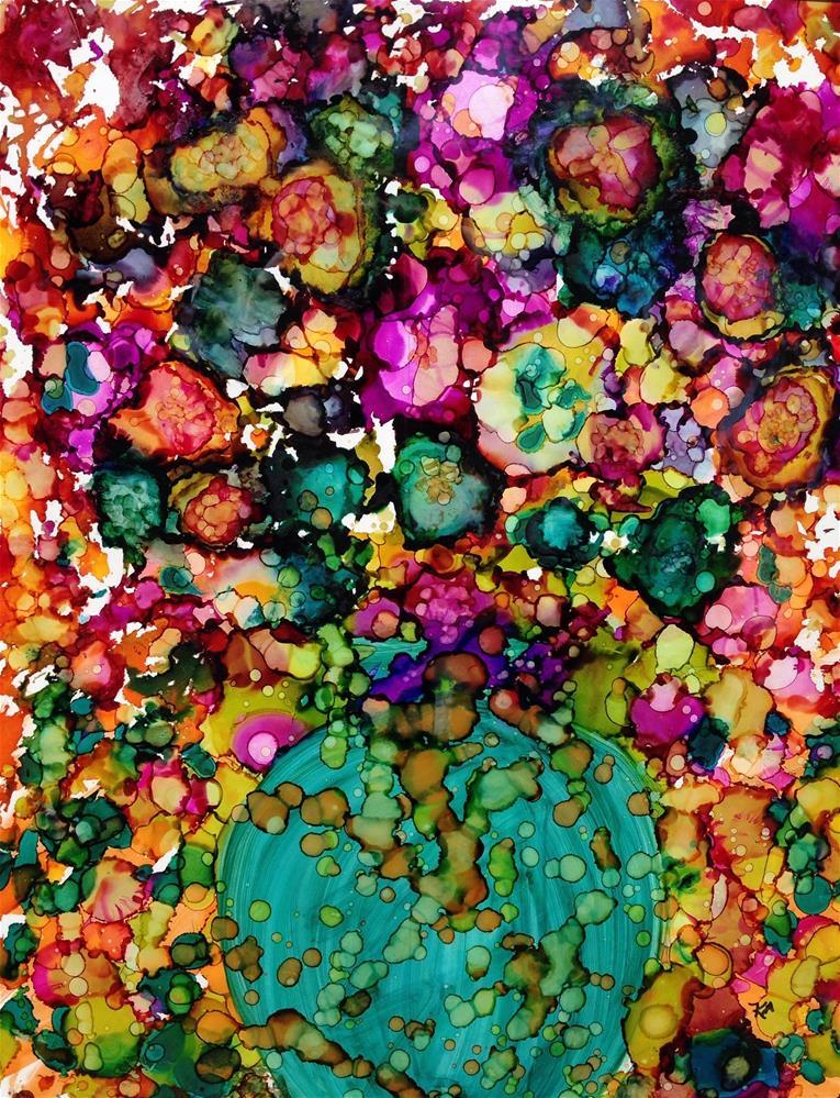 """vase of Happiness"" original fine art by Kris Alge"