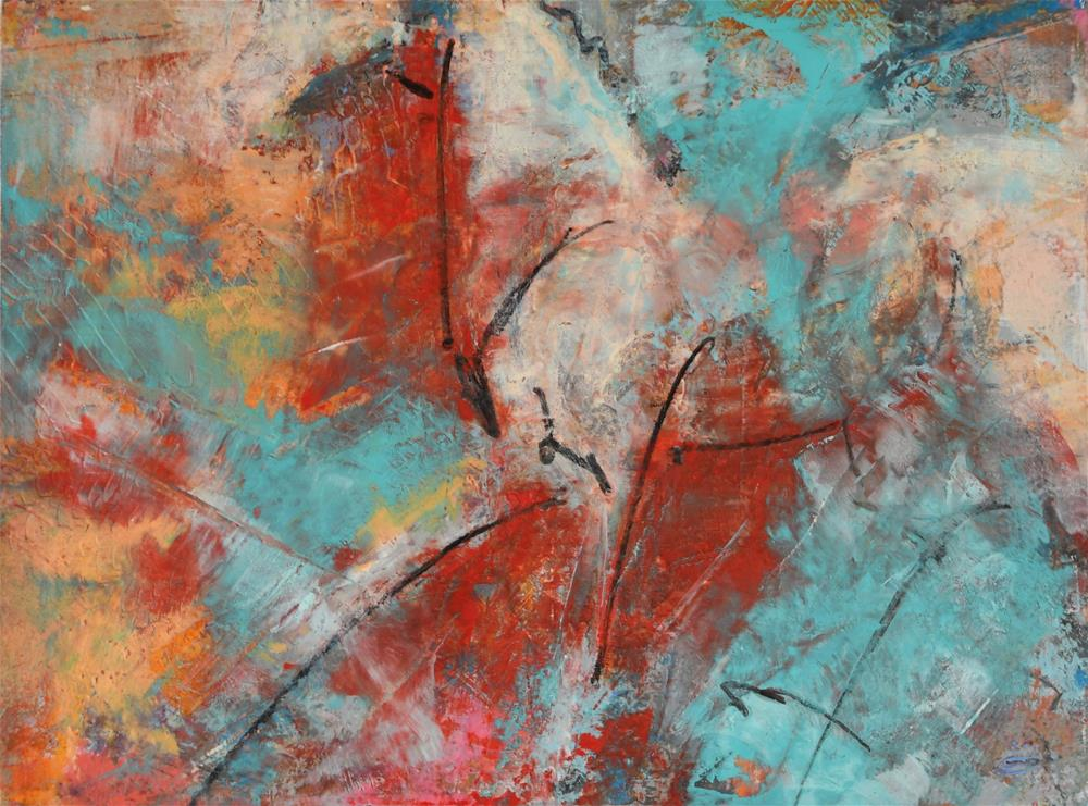 """Accelerate #4"" original fine art by Jennifer Pratt"