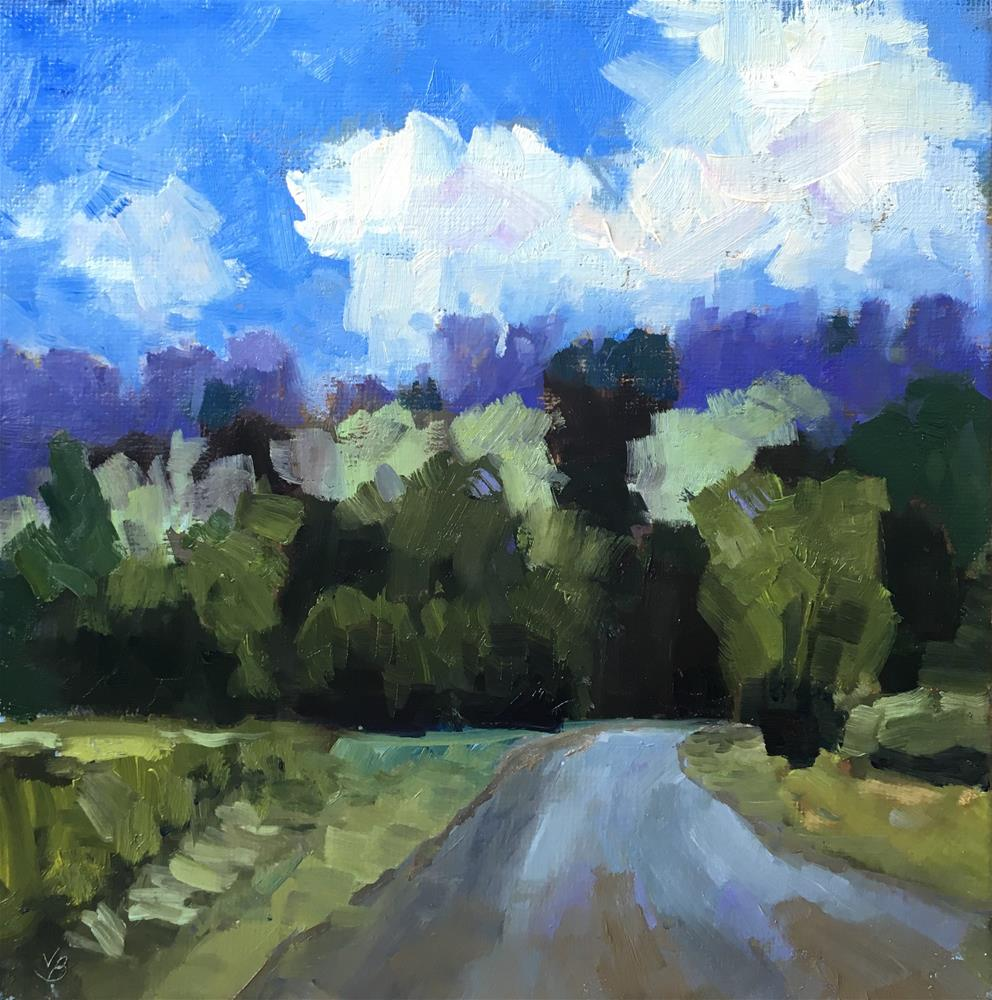 """On the Road to Finley"" original fine art by Victoria  Biedron"