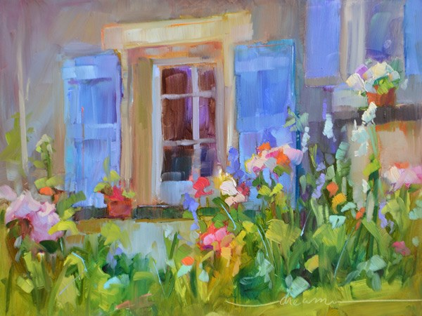 """""""French Spoken Here"""" original fine art by Dreama Tolle Perry"""