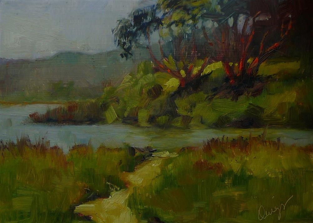 """Lagoon"" original fine art by Sharman Owings"
