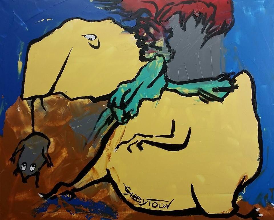 """""""A Funny Trophy"""" original fine art by Gabriella DeLamater"""