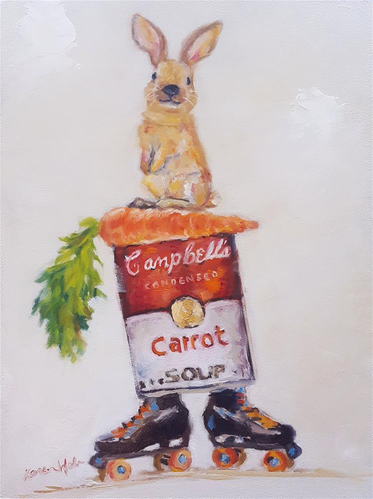 """""""Carrot Soup"""" original fine art by Karen Weber"""