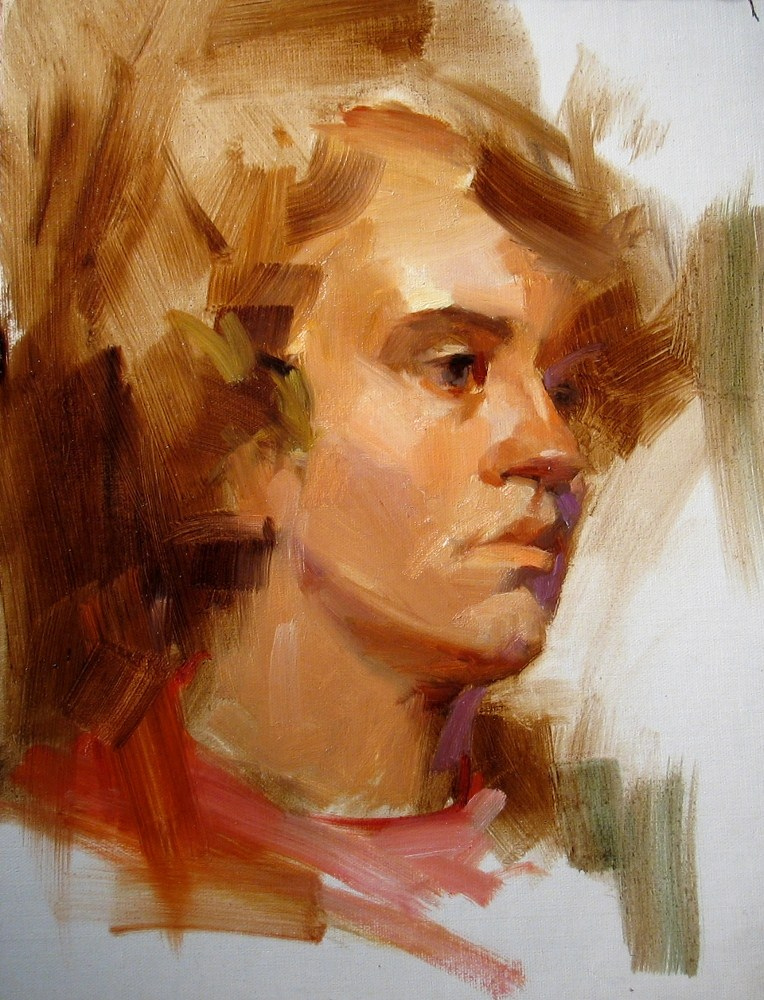 """Head Study 053012"" original fine art by Qiang Huang"